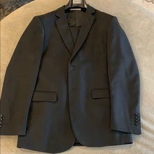 Men's Solid Black Suit 38Rx32
